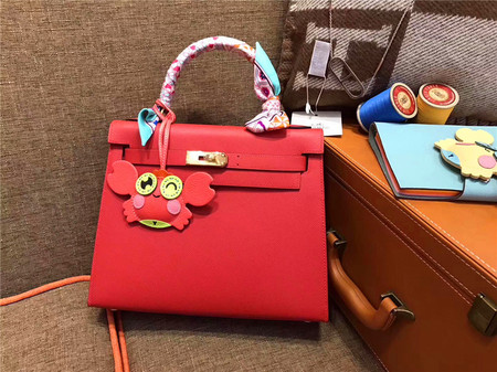 HERMÈS Kelly 28 番茄红