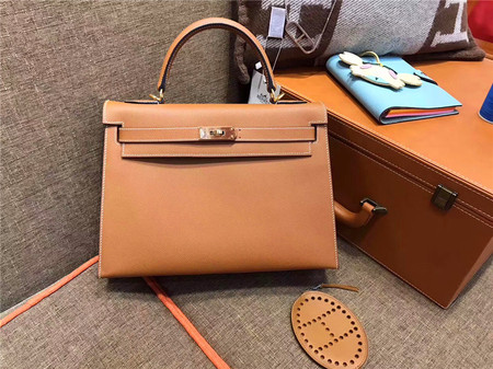 HERMÈS Kelly 32 土黄