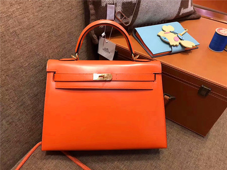 HERMÈS Kelly 32 火焰橙