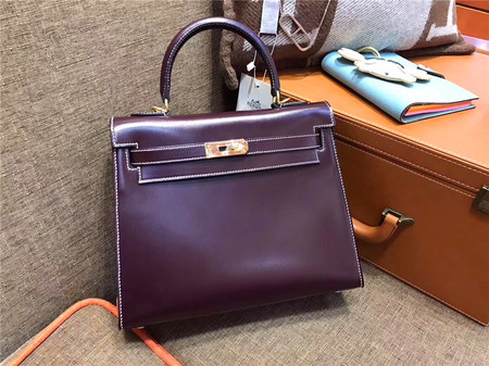 HERMÈS Kelly 28 枣红色